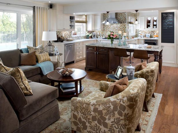 Open Yet Divided To Create Visual Separation Between The Kitchen And Family Room Candice Designs A Light Airy Look For