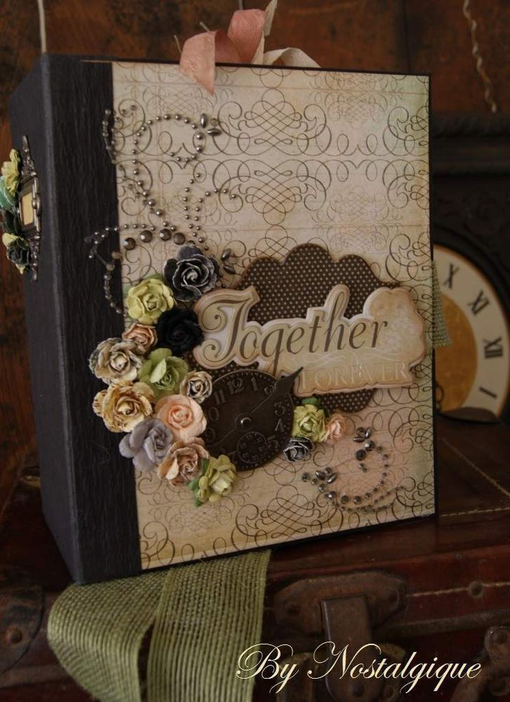 TPHH. PREMADE SCRAPBOOK ALBUM. TOGETHER FOREVER...ANY OCCASION BY NOSTALGIQUE
