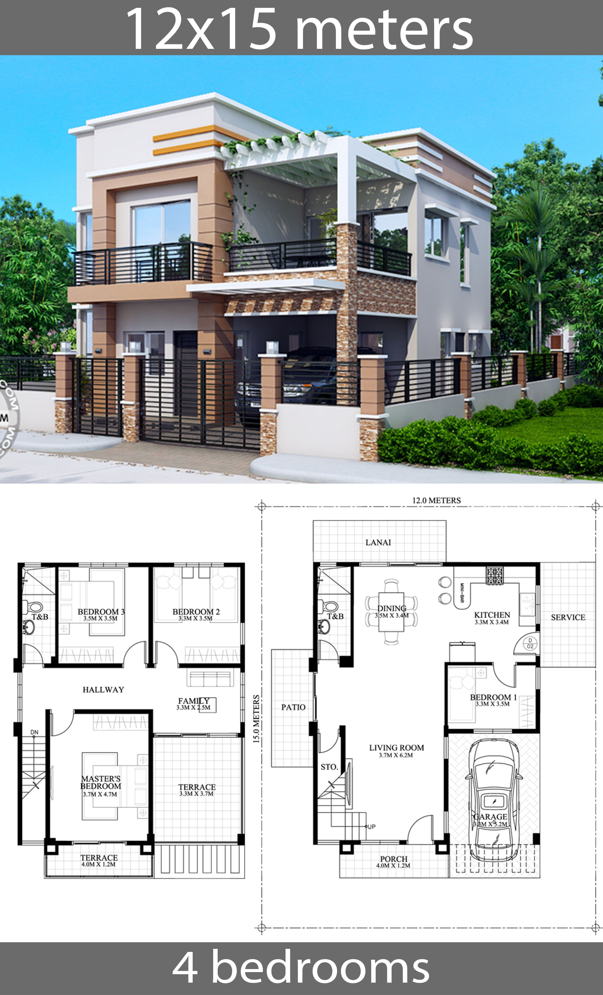 Pin By Yulia Djj On House Plans Idea House Construction Plan Family House Plans Model House Plan