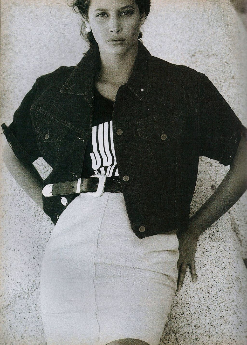 US Vogue April 1988 free spirit, summer style Model: Christy Turlington Ph: Patrick Demarchelier Hair: Sam McKnight Makeup: Mary Greenwell Stylist: No credit