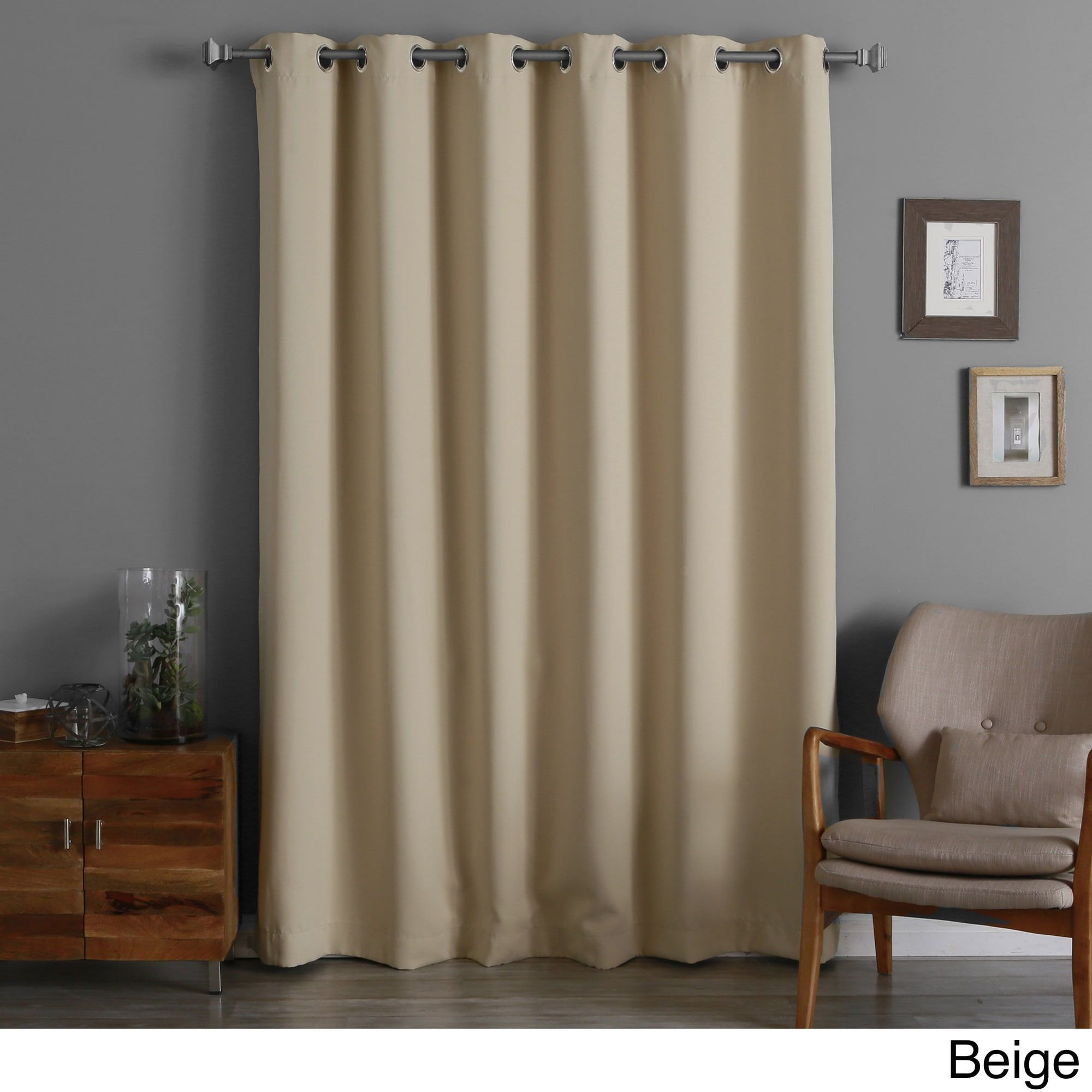 Aurora Home Thermal Insulated 96 Inch Long X 80 Wide Blackout Curtain Panel Beige Bedroomcurtainsmaster Blackoutcurtainideas