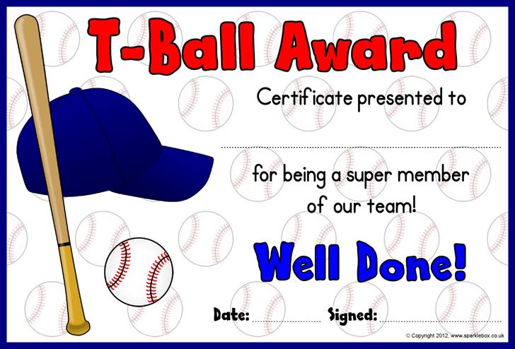 team certificates
