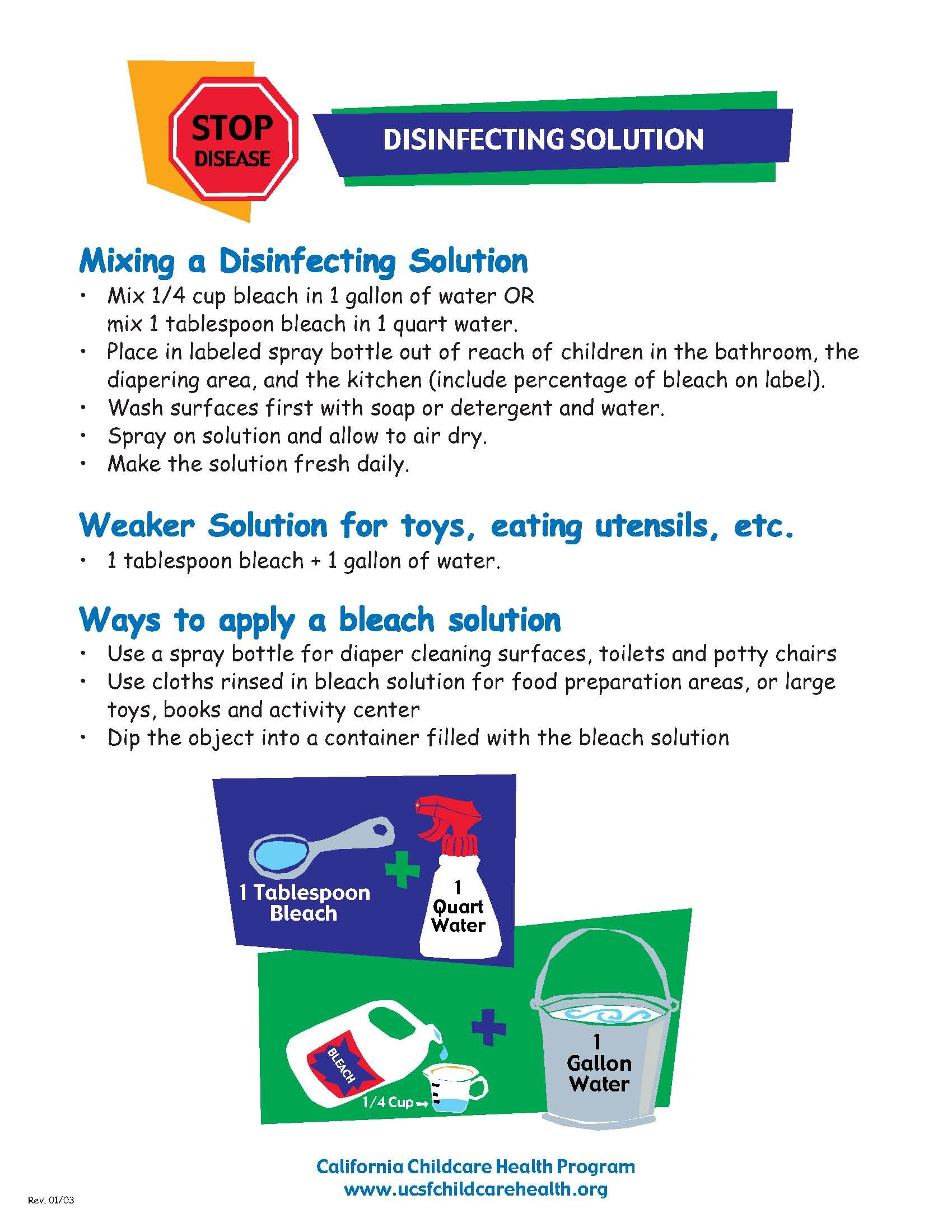Childcare disinfection guide childcare human services