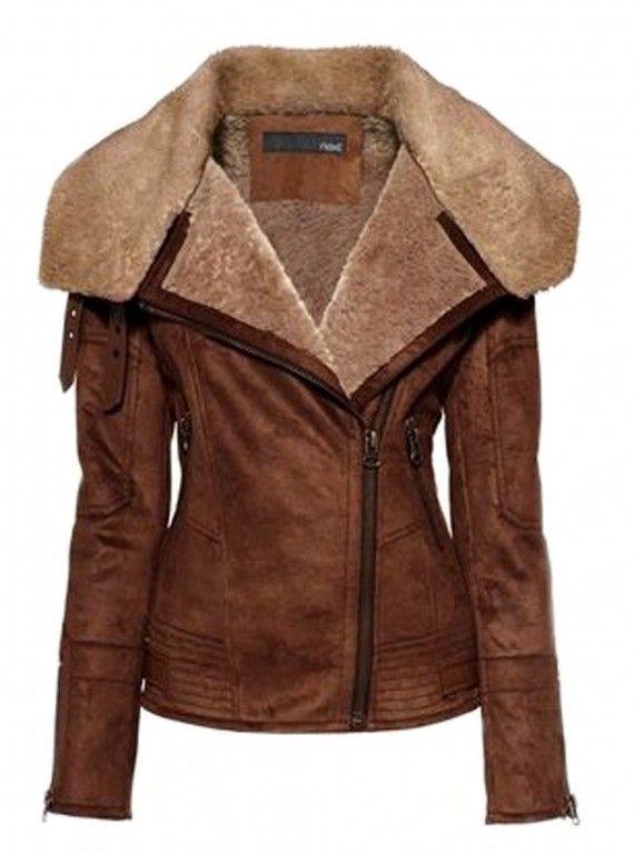 Next brown faux sheepskin aviator jacket. really really want this ...