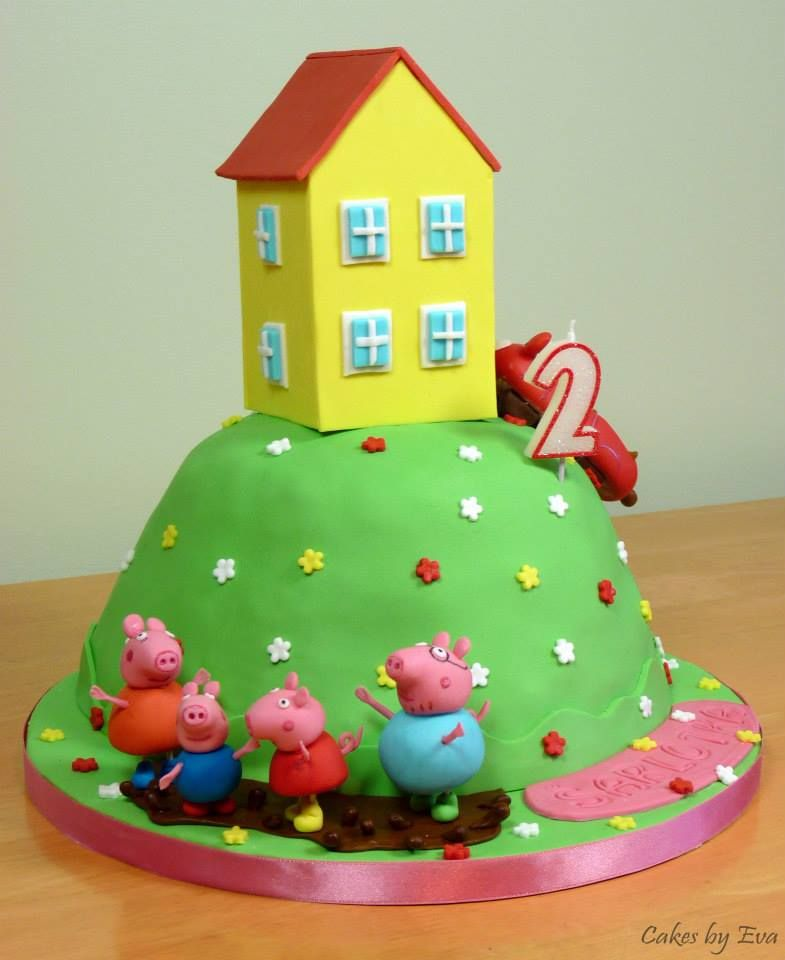 Peppa pig birthday cake peppapig cake birthday