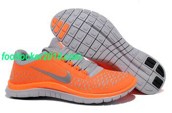 Nike 3.0 Total Orange Reflect Silver Wolf Grey Running Shoes For