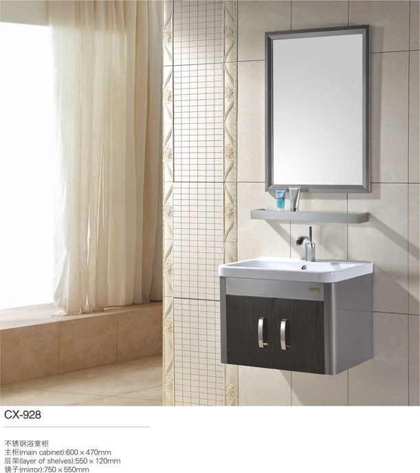 Stainless Steel Bathroom Vanity And Sink Combo 30 Inch With