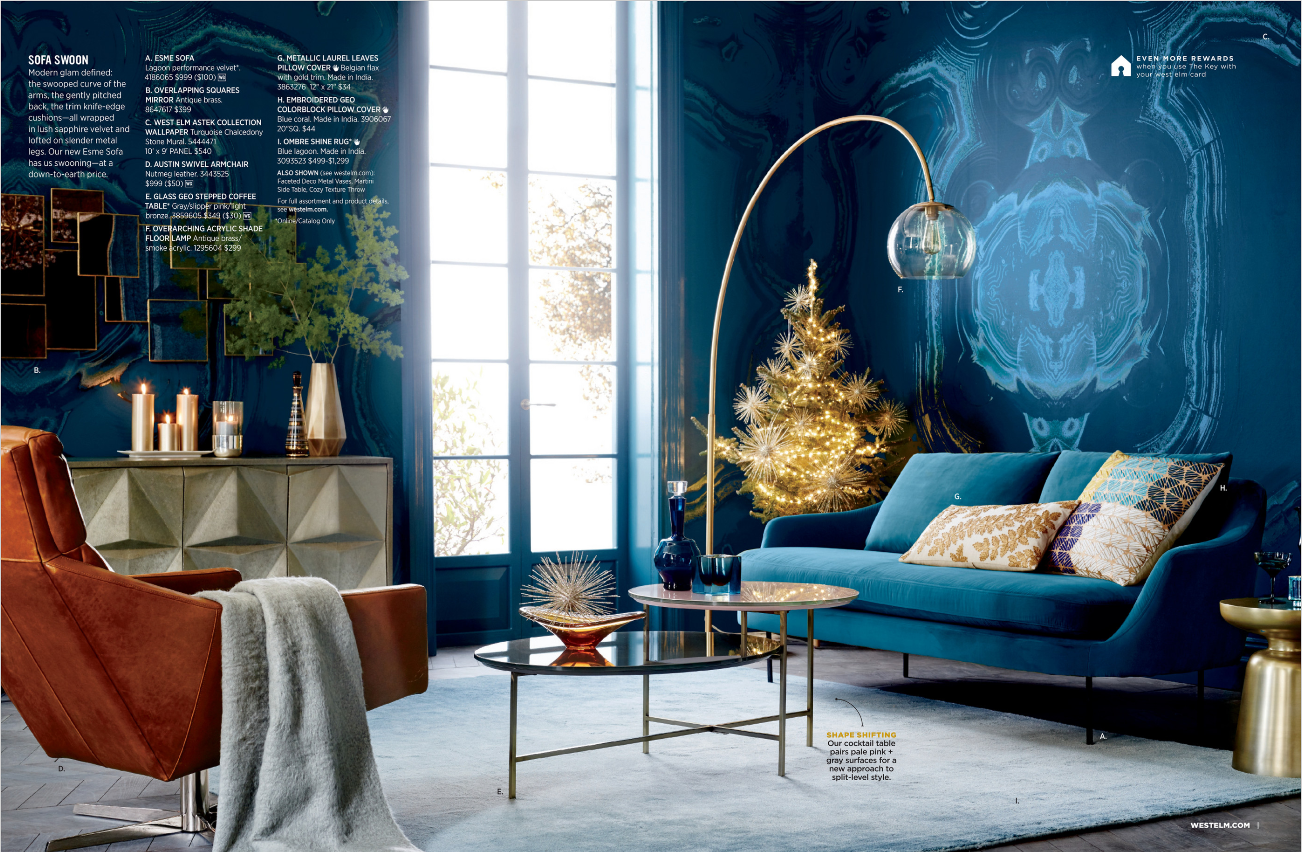 West Elm Blue Living Room Styling Living Room Design Modern Apartment Decor Home Decor