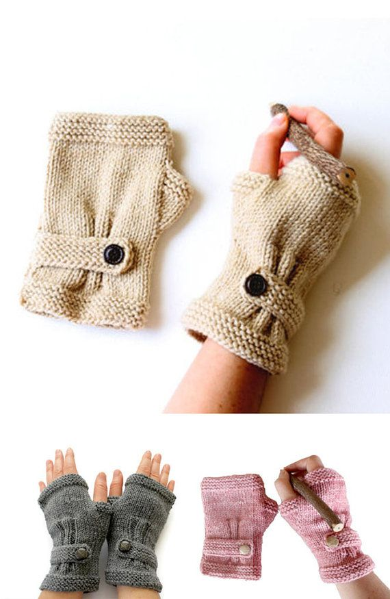 Autumn Finds / HOLIDAY Sale / Hand Knit Fingerless Gloves / Brown ...