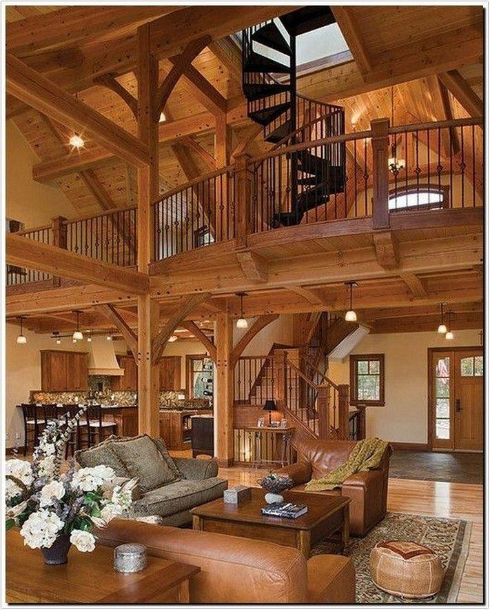 40+ Flexible Log Cabin Interior Design Ideas For Modern
