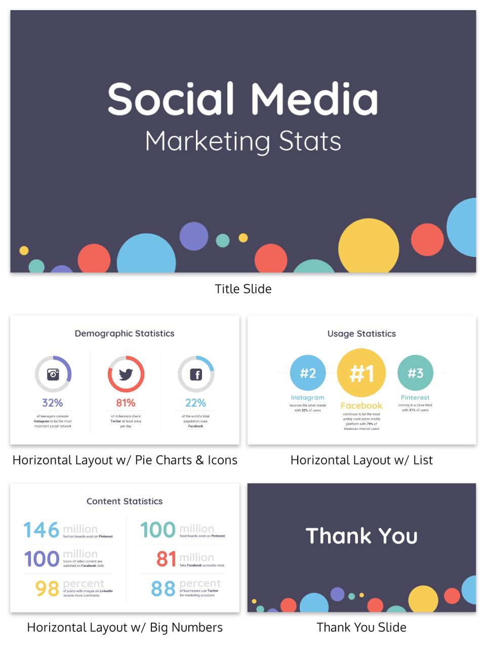 120 Best Presentation Ideas Design Tips Examples Venngage Social Media Report Business Presentation Templates Social Media
