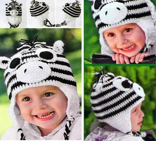 Gorro de cebra a crochet para niños | Pinterest | Cebras, Patrones ...