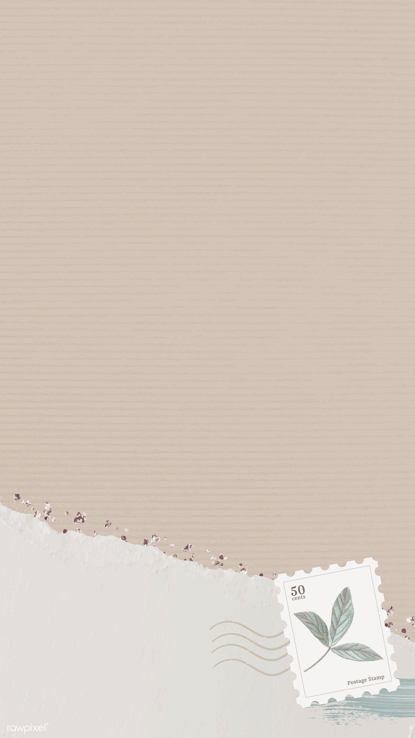 Download premium vector of Beige mobile phone wallpaper