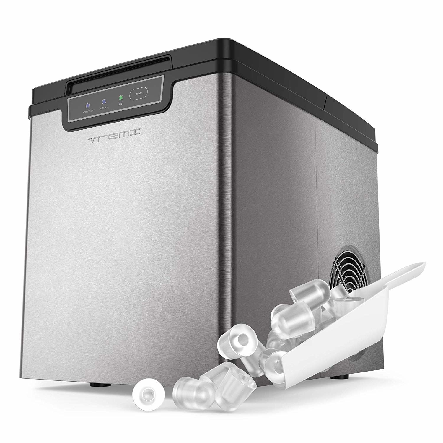 Vremi Countertop Ice Maker Ice Cubes Ready In 9 Mins Makes 26 Lbs In 2020 Ice Maker Ice Cube Maker