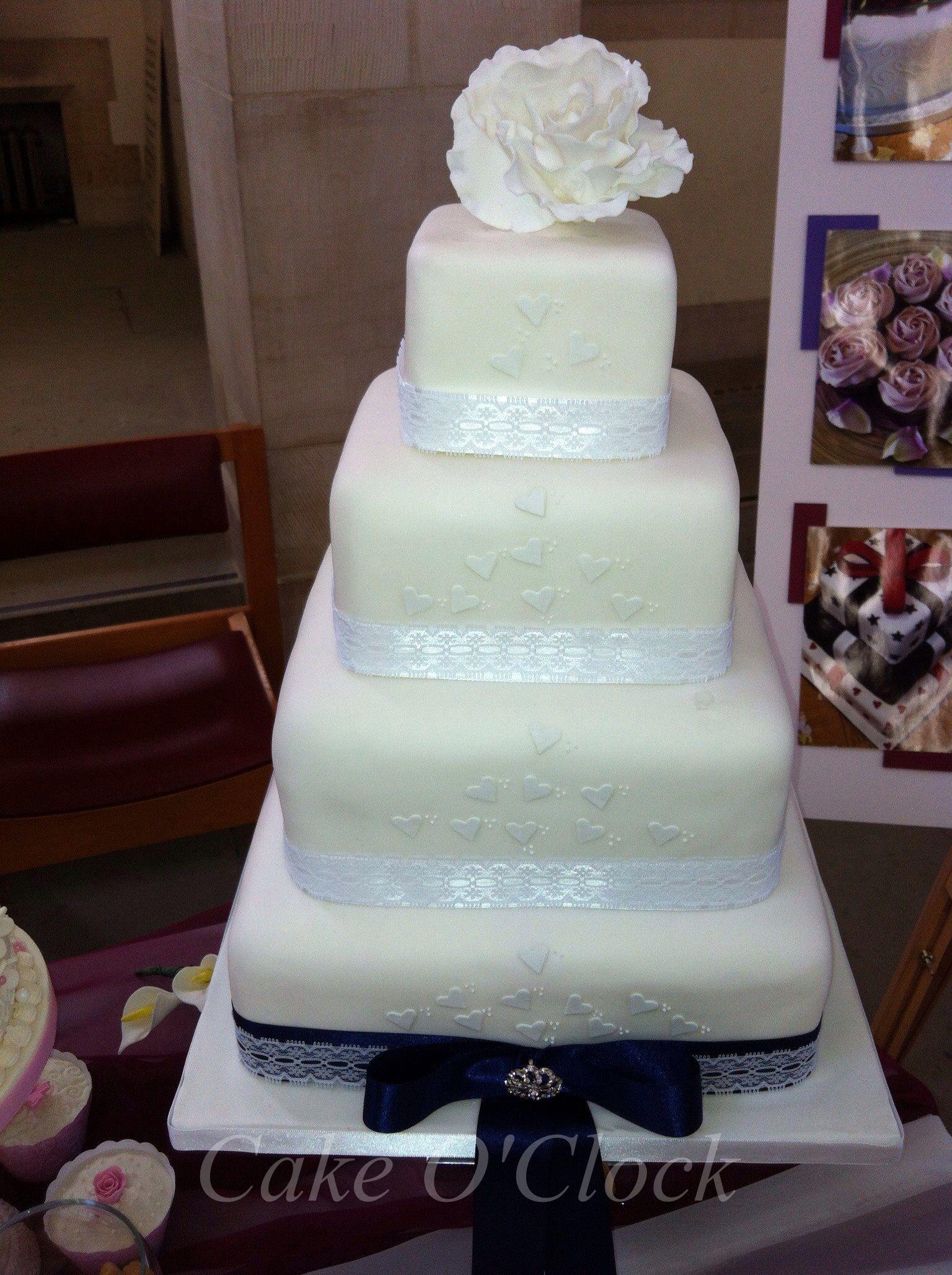Simple Vintage Wedding Cake By O Clock