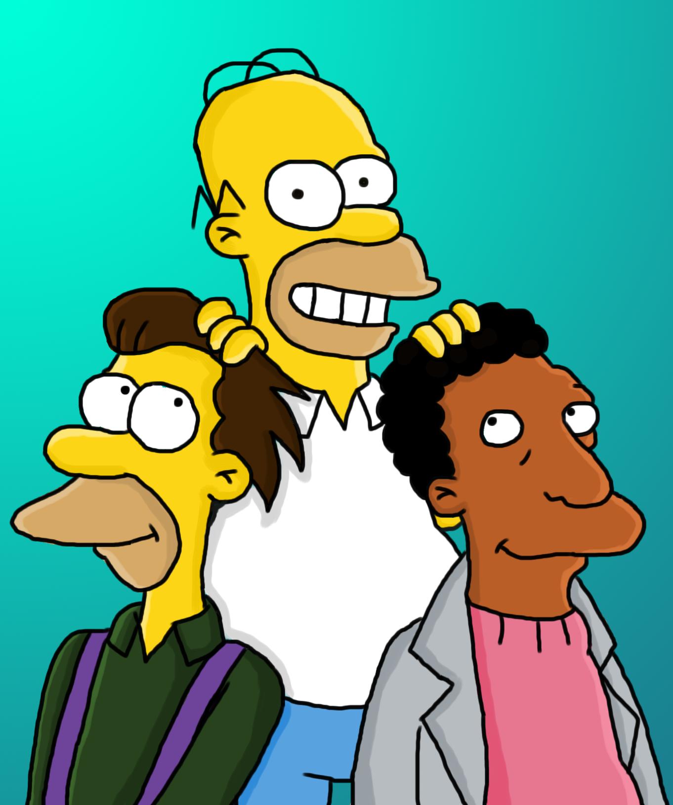 Homer Simpson, Lenny Leonard And Carl Carlson The Three -1351