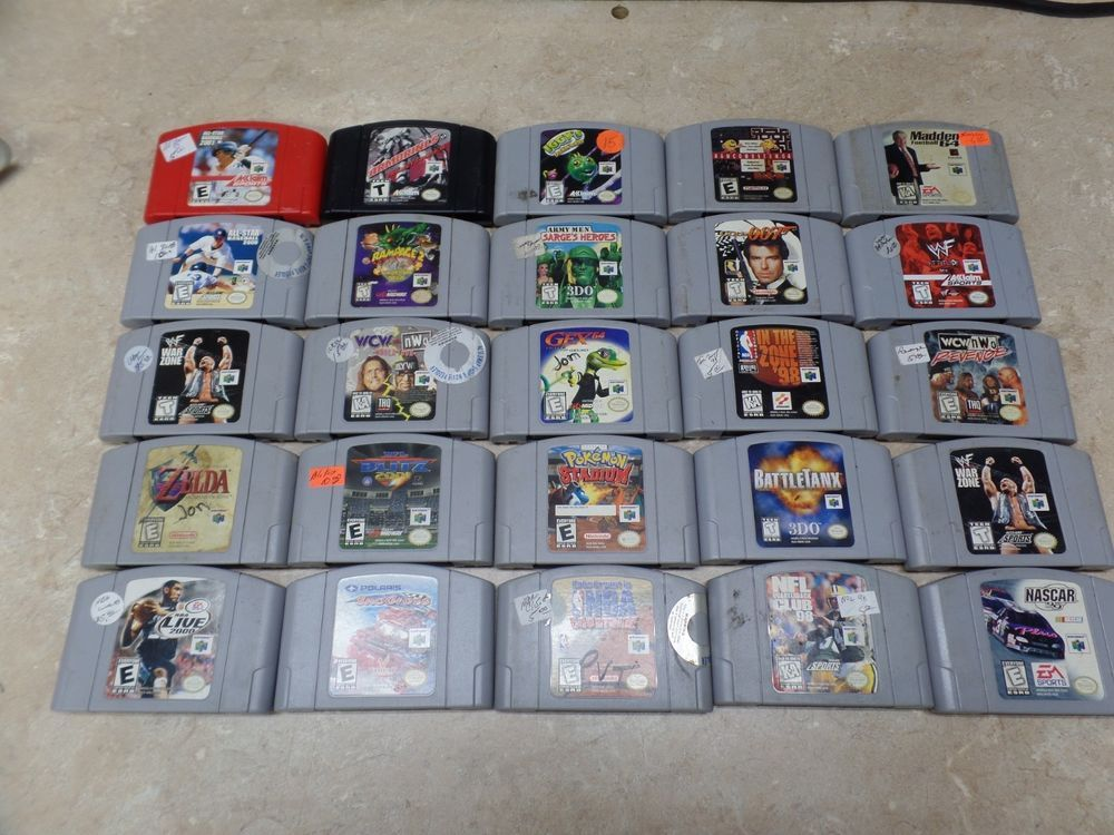 Nintendo 64 N64 Lot Of 25 Games Sports Zelda Football Basketball