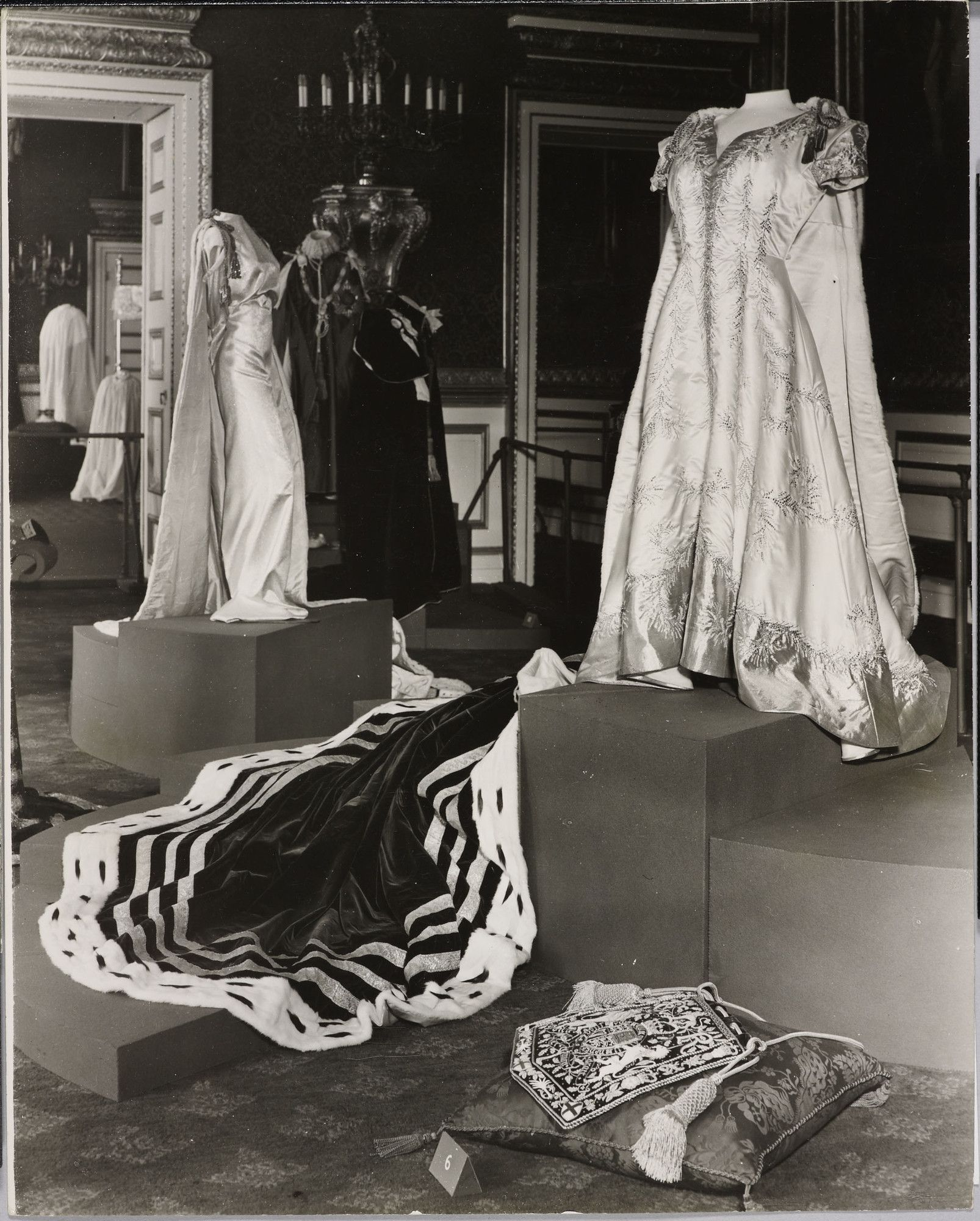 The Royal Collection: Coronation Robes on View at St James's Palace, 1953