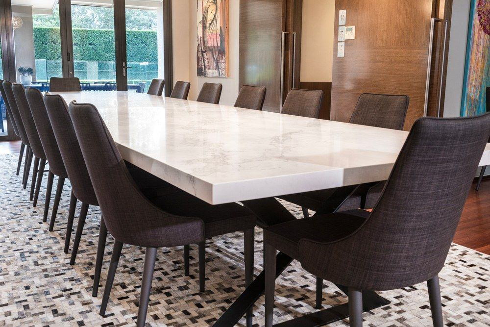 Oversize Custom Made Ceasarstone Dining Table Large Dining Room