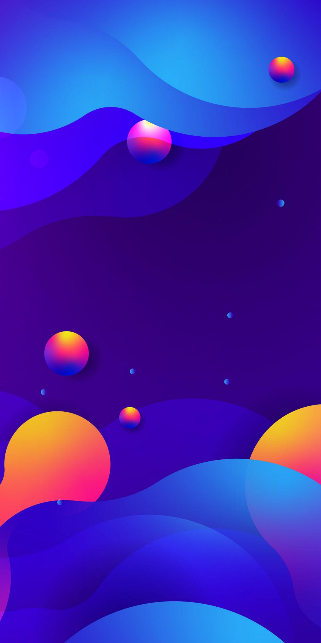 Обои неоновый, Abstract, rainbow, lights, colors, background. Абстракции