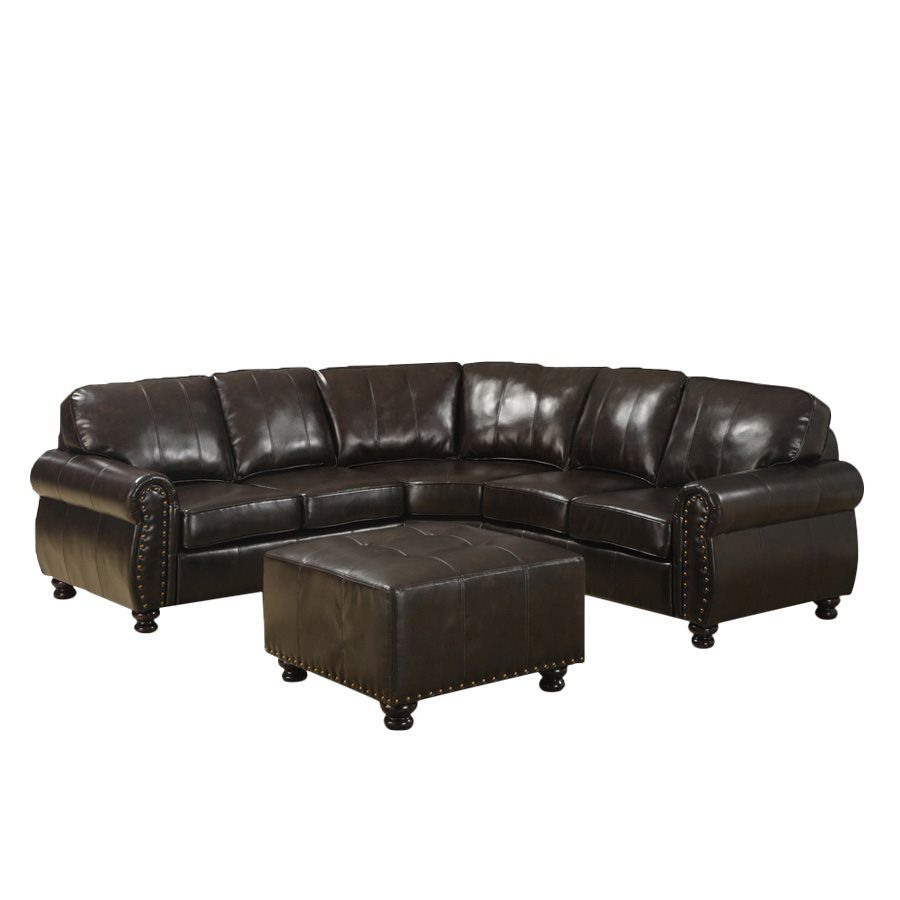 Hammond Brown Leather Modern Sectional Sofa For The Best Deal Price Of  Affordable Modern Furniture In Chicago.