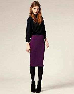 80ac4d0d9a Pencil skirt with black jumper