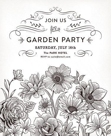 Floral invitation vector art illustration marinete elas bastos floral invitation vector art illustration stopboris Gallery