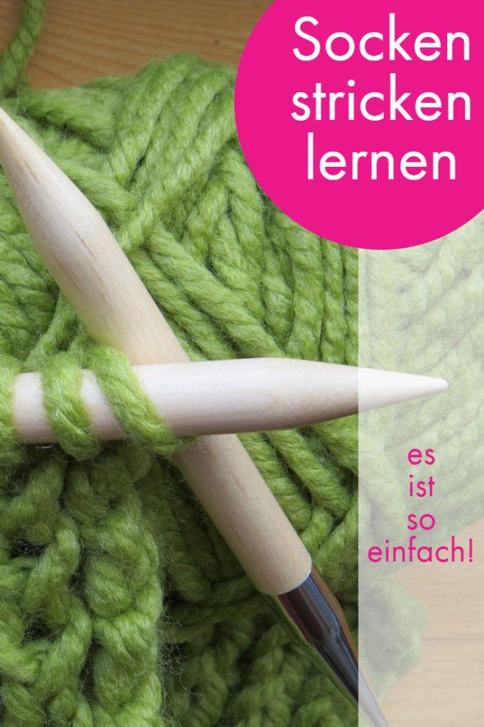 Mit dieser Anleitung lernst du Socken stricken - garantiert! #embroiderypatternsbeginner