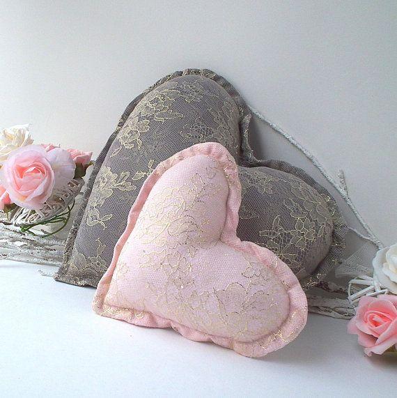 Best Plush Heart Pillows Decorative Cushion Foggy Grey Blush 400 x 300