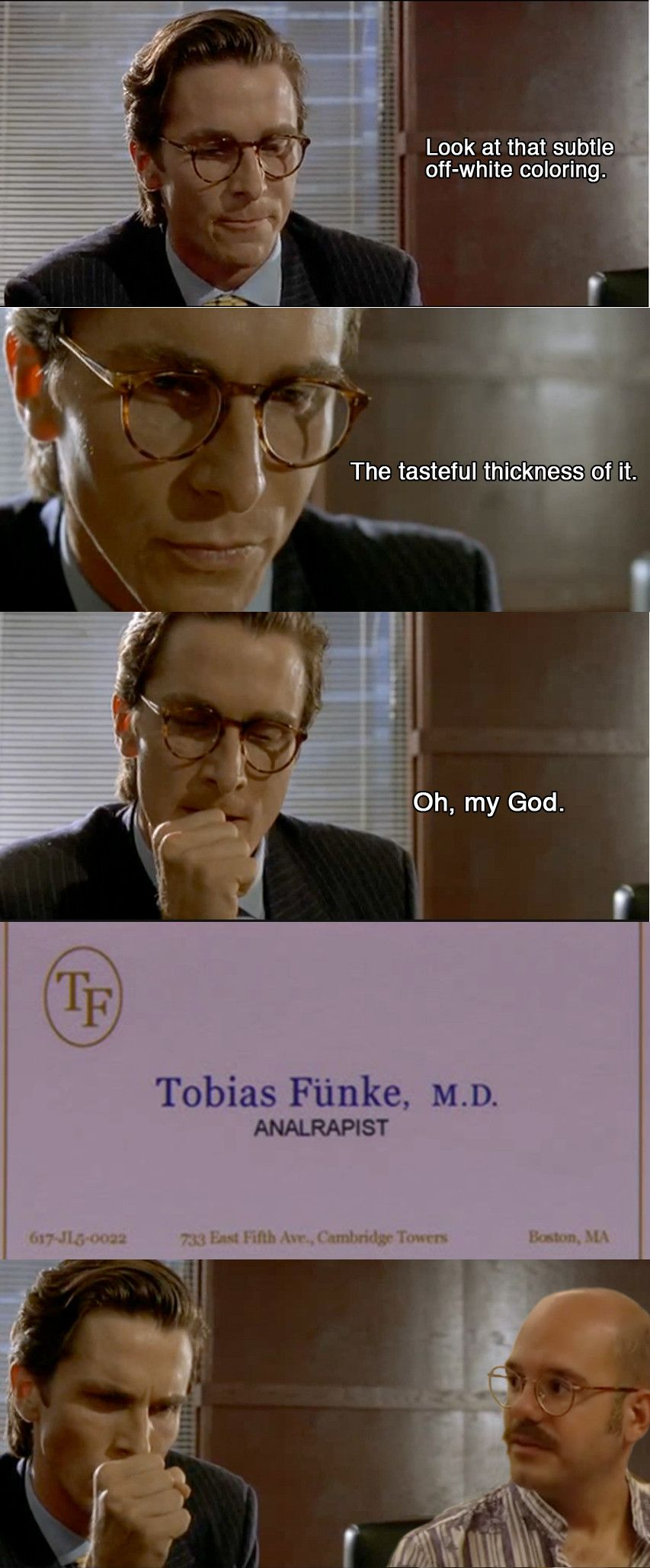 Tobias funke in american psycho potent quotables pinterest tobias funke in american psycho magicingreecefo Image collections