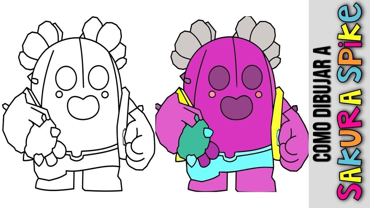 Como Dibujar A Spike Sakura De Brawl Stars Mejores Brawlers