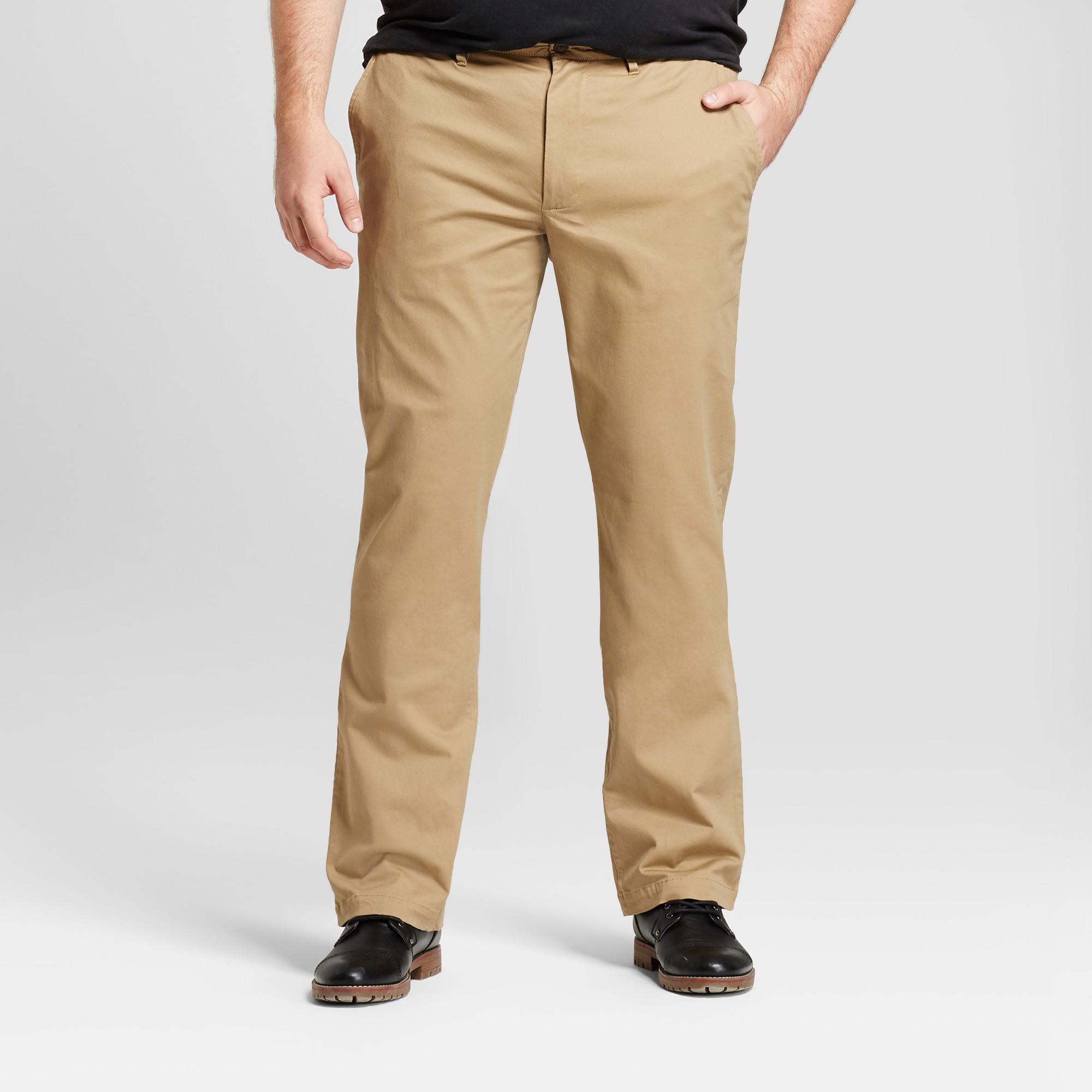 2b2ca9a7 Men's Big & Tall Straight Fit Hennepin Chino Pants - Goodfellow & Co Tan  48x30