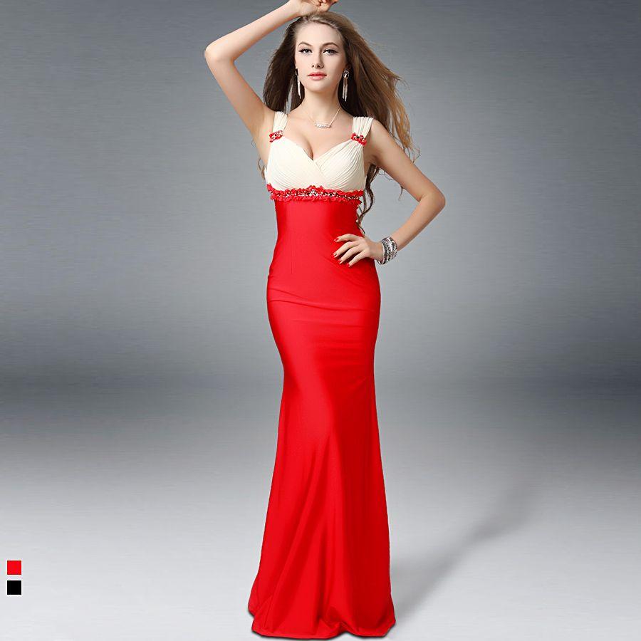 Aliexpress buy red design long evening dress deep v neck fish