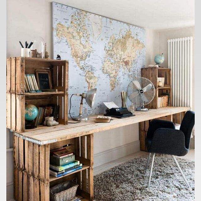bureau r cup caisse a pommes id es d co pinterest. Black Bedroom Furniture Sets. Home Design Ideas