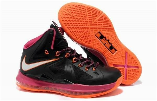 Nike Lebron 10 Orange Black Pink | Nike lebron, Sneakers