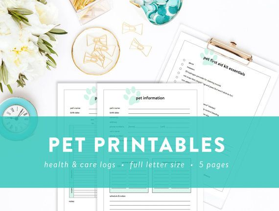 pet printables pet information pet sitter note health history and first aid checklist. Black Bedroom Furniture Sets. Home Design Ideas