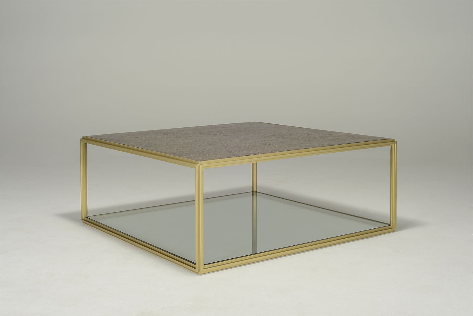 Marvelous Low Coffee Table Blt Pt6 Square Brass Bronze Top Golden Sand Creativecarmelina Interior Chair Design Creativecarmelinacom