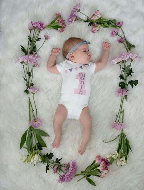 Our Pink Grey 1 Month Old Baby Girl Milestone Outfit Is The Perfect Outfit For Your Baby Girl To Celebrate He 1 Month Old Baby Baby Girl Baby Shower Gift Set