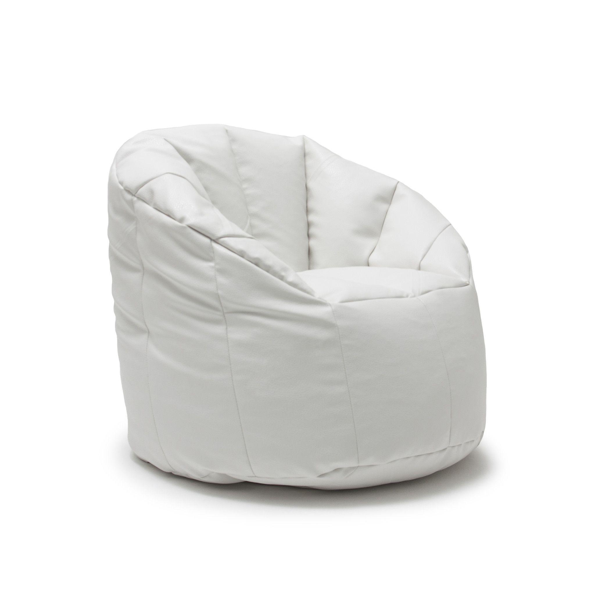 Phenomenal Big Joe White Vegan Milano Chair Bean Bag Chairs Bean Cjindustries Chair Design For Home Cjindustriesco