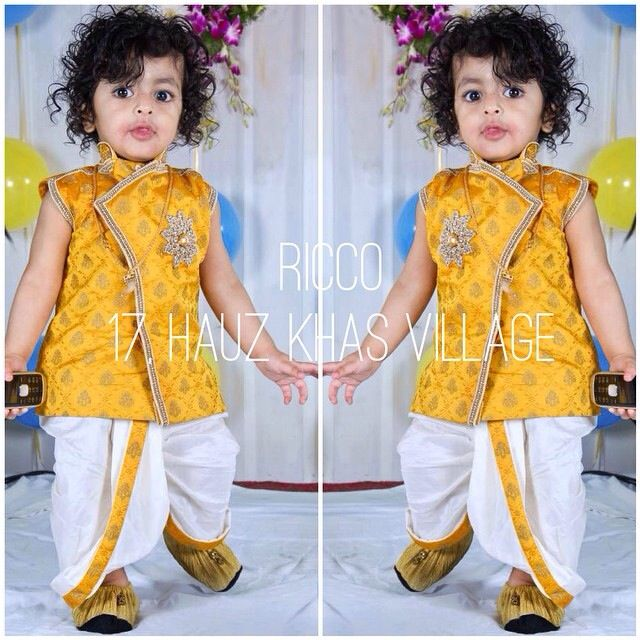 b3ccf7bed Custom made dhoti kurta for baby boy. Micro fashion For  order/details/customisation contact us on +918800511005 or  www.facebook.com/riccoindia or ...