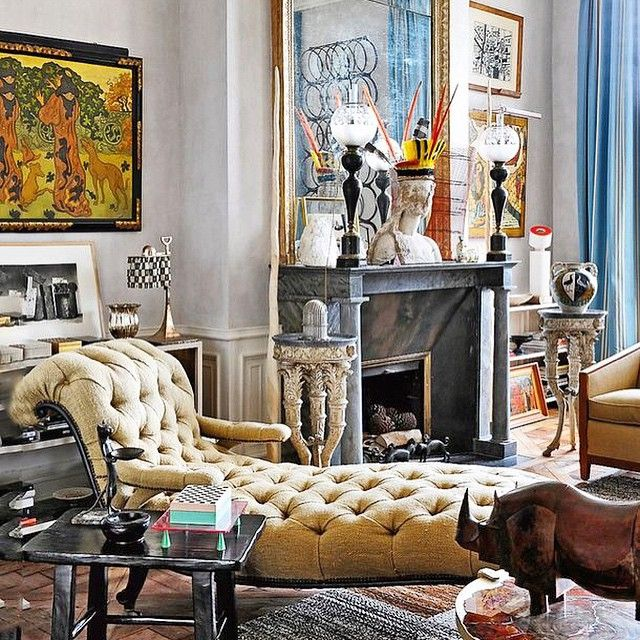 Really wouldn't mind reclining here. Paris apartment of iconic French designer, Jacques Grange. #envygram #roomswelove #readytorecline #Padgram