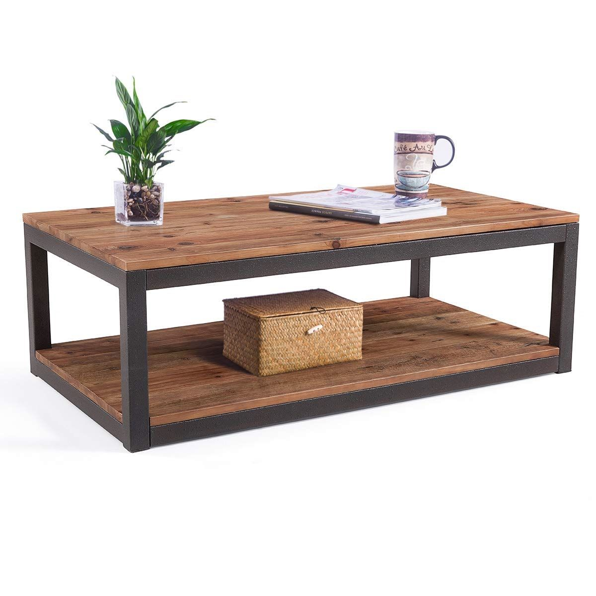 Emerald Home Chandler End Table Wooden Coffee Table Metal Legs Coffee Table With Metal Legs Alaterr Coffee Table Farmhouse Coffee Table Wood Coffee Table
