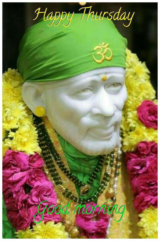 Pin By Parvathi On Gods Morning Greeting Sai Baba Photos Morning