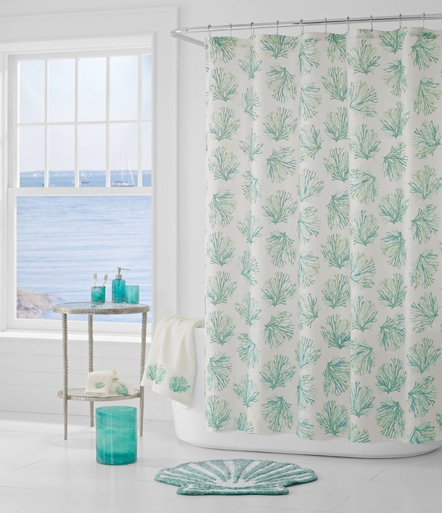 Aqua Coral Reef Shower Curtain Coral Shower Curtains Printed Shower Curtain Bathroom Decor Accessories