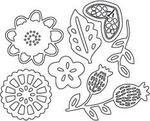 Savvy Stamps Dies, Flower Blossom Set 3