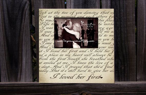 Father Of The Bride Picture Frame Gift For Dad Wedding Gift