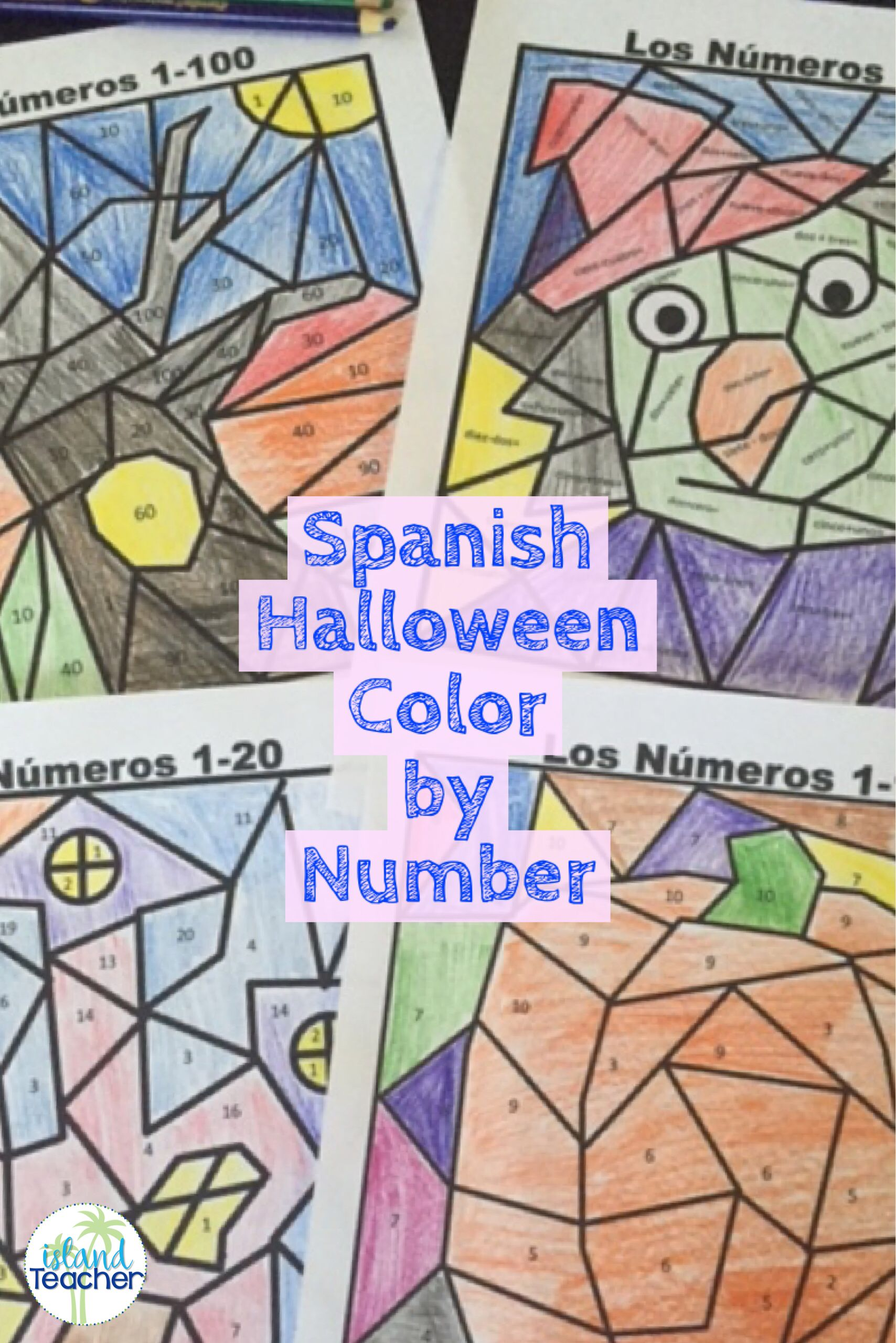 Halloween Spanish Color By Number