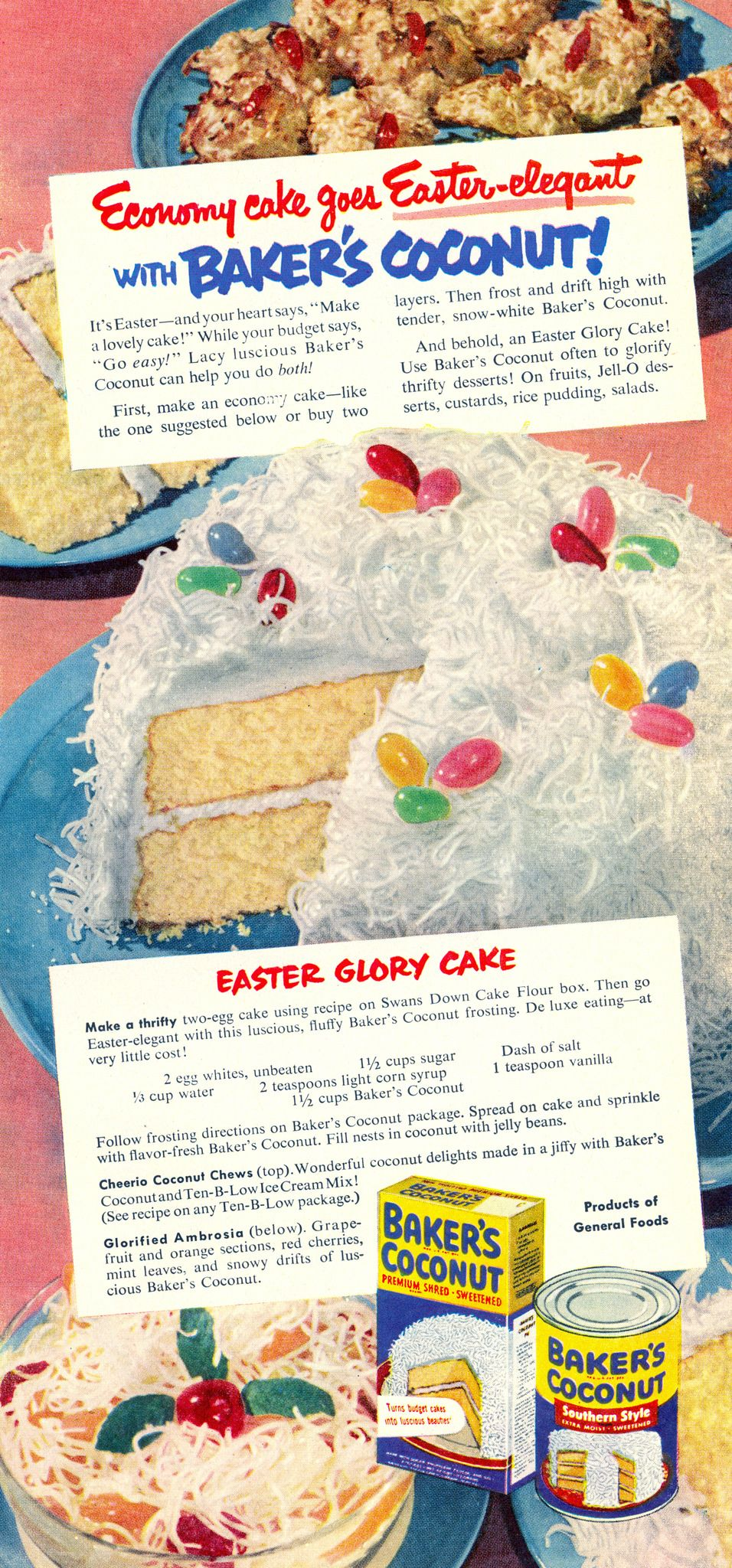 "Baker's Easter Glory Cake Recipe from ""Good Housekeeping"" 