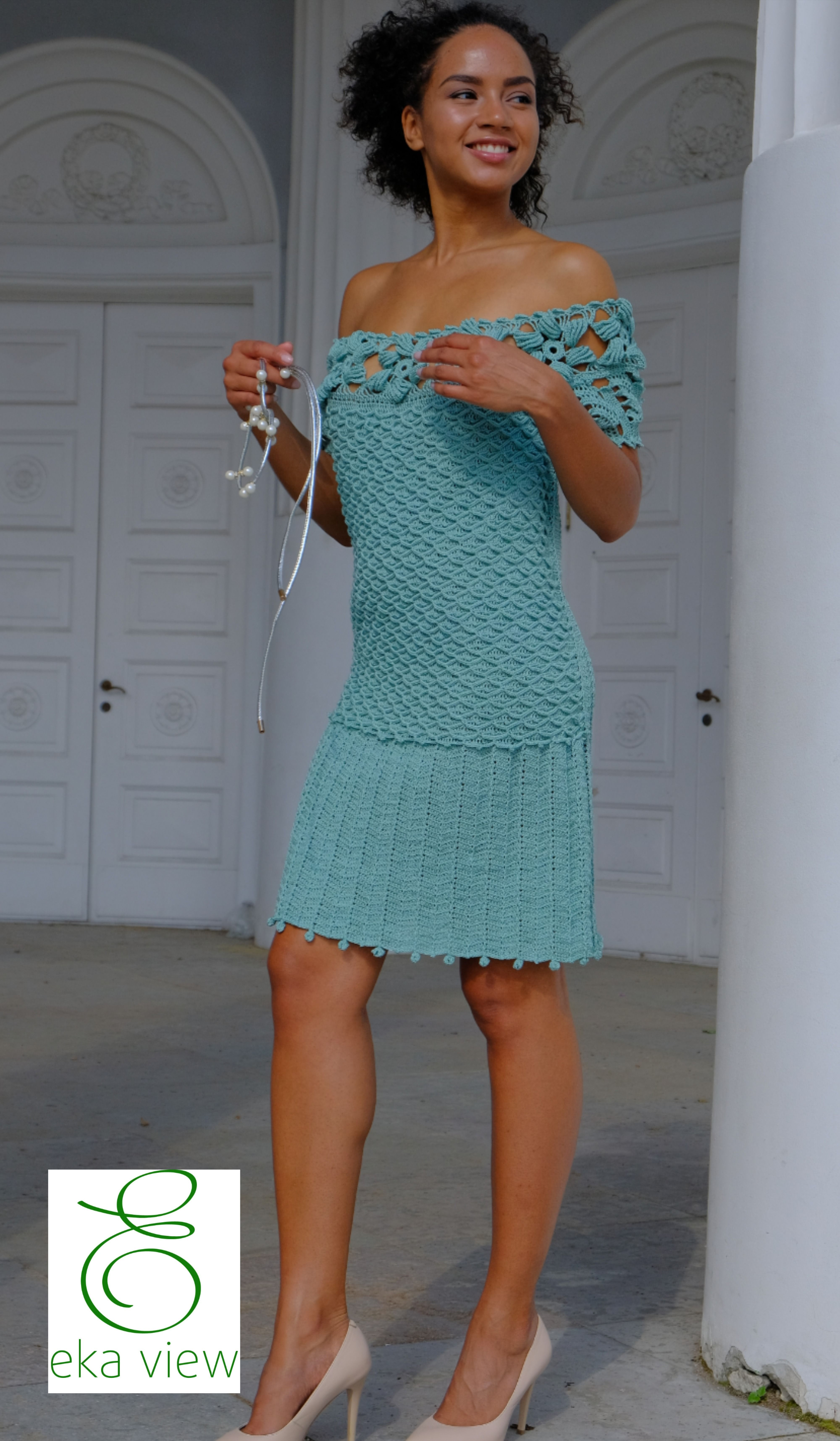 Straight Fitted Lace Dress Off Shoulders In Pale Mint Etsy In 2020 Concert Dresses Nice Dresses Hand Knitted Dress