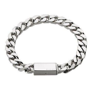 Gucci Mens Gourmette Silver Chain Bracelet Gucci Jewelry